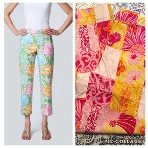 Adorable Vintage Lilly Pulitzer Patchwork Capris